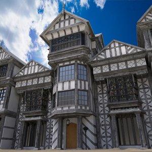3d model house tudor