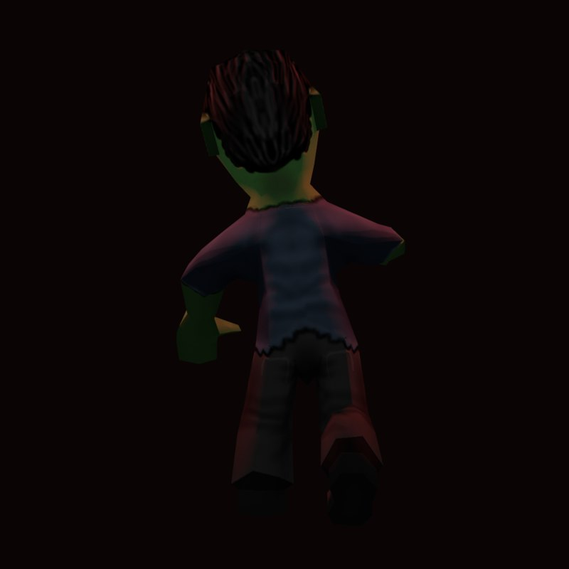 3d zombie character model