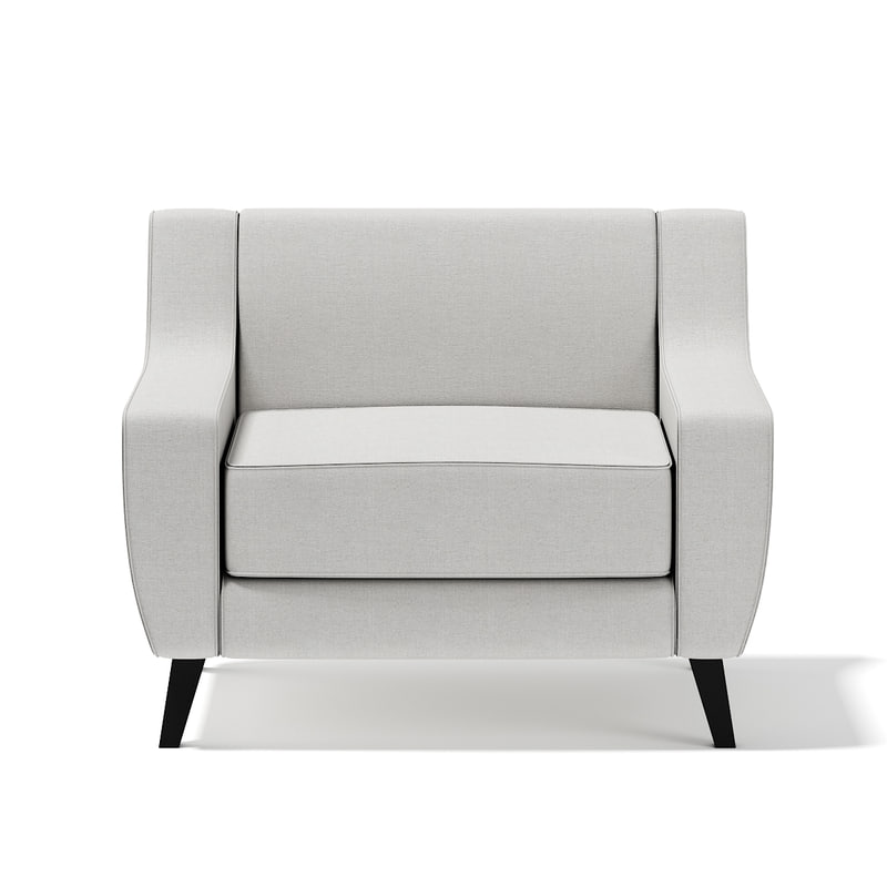 max light-grey armchair