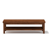 3d wooden rectangular coffee table model