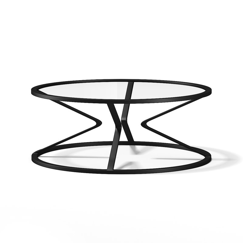 glass coffee table 3d model