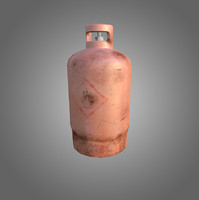 3d low-poly gas cylinder model