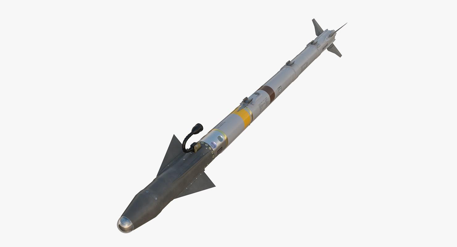 aim-9x sidewinder missile 3d model