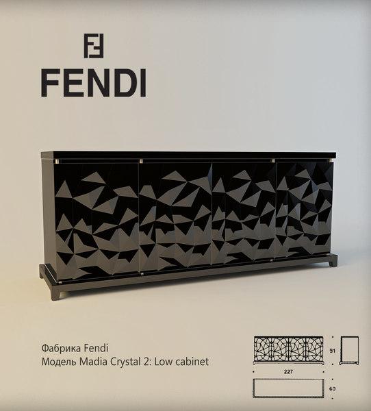 fendi madia crystal 3d model