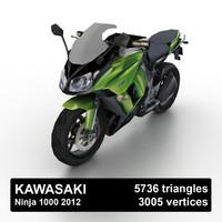 3d 2012 kawasaki ninja 1000 model