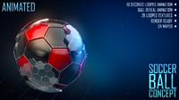 soccer ball concept 3d c4d