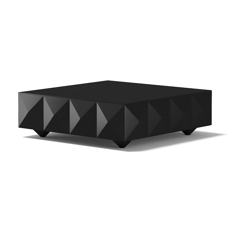 3d modern square black coffee table