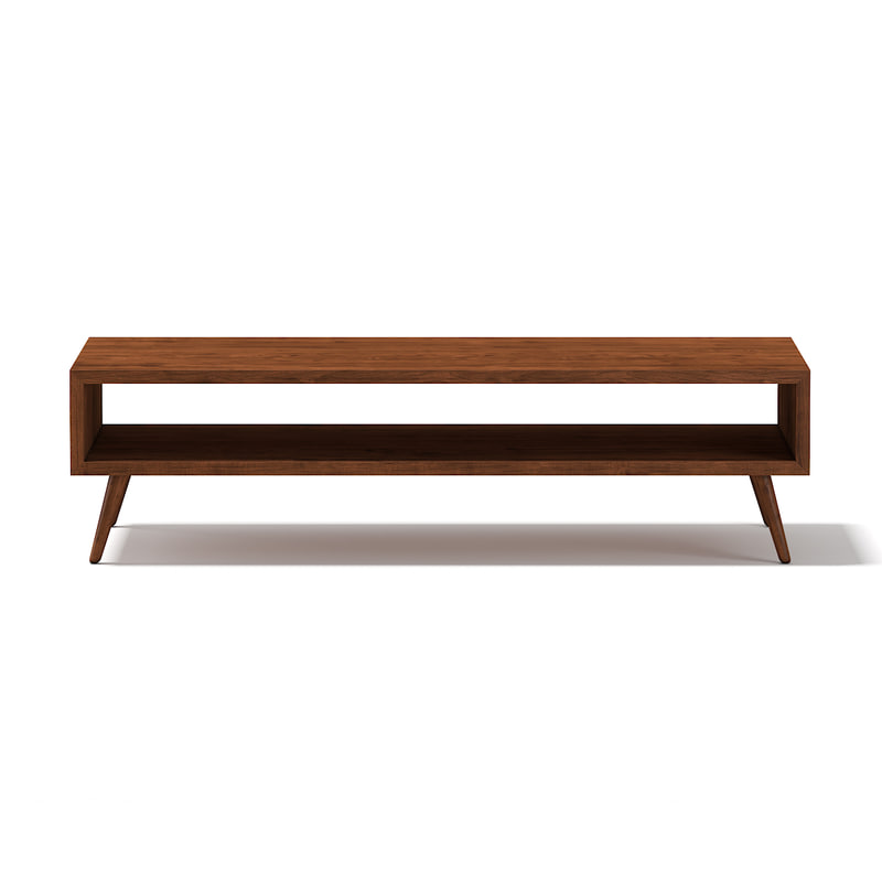 ma rectangular wooden coffee table
