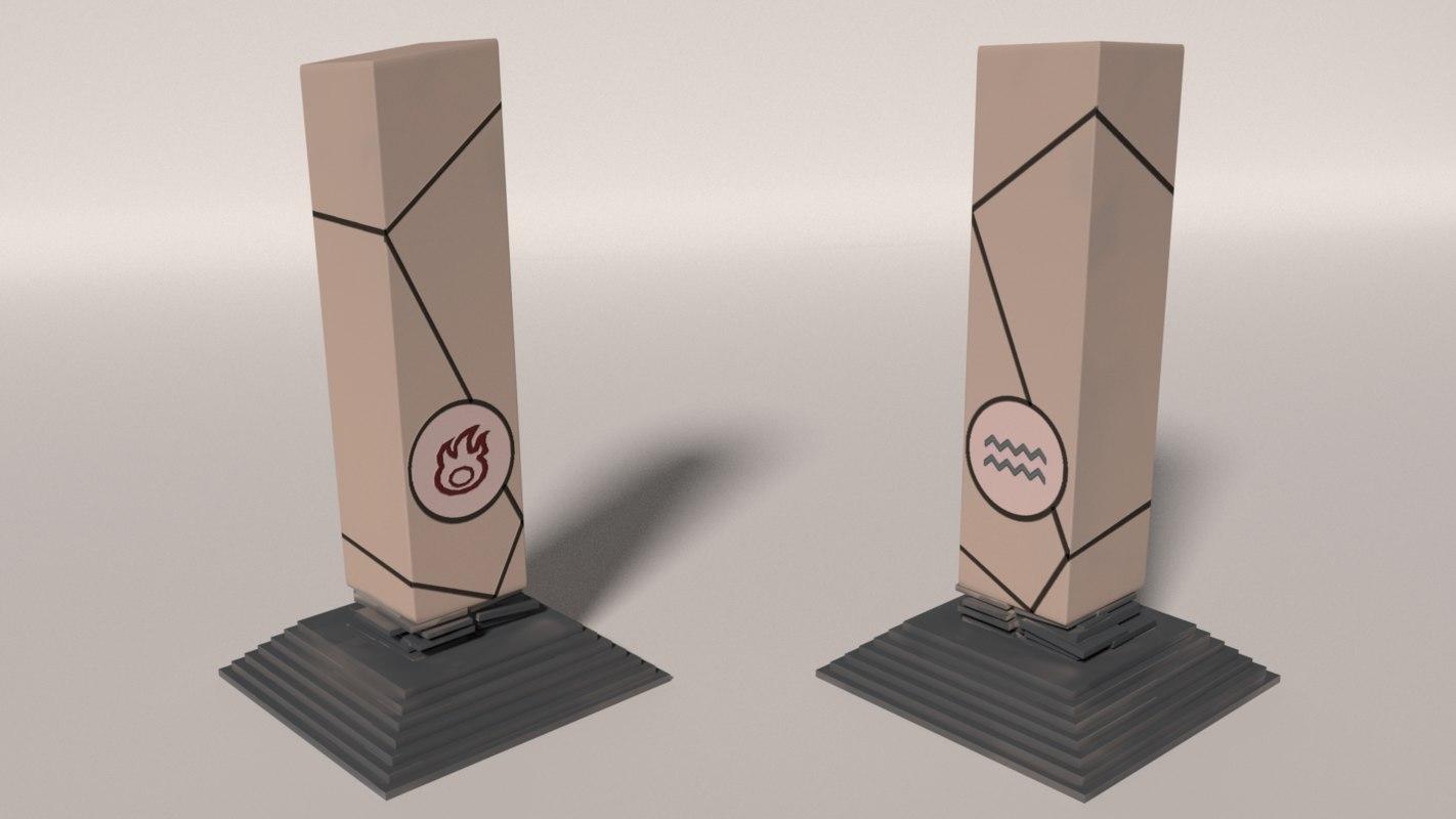 water pillar 3d model