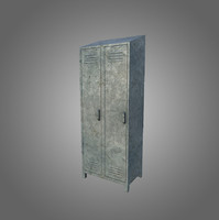 3d obj low-poly locker