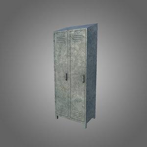 3d obj low-poly locker