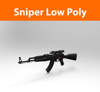 3d model gun machine sniper