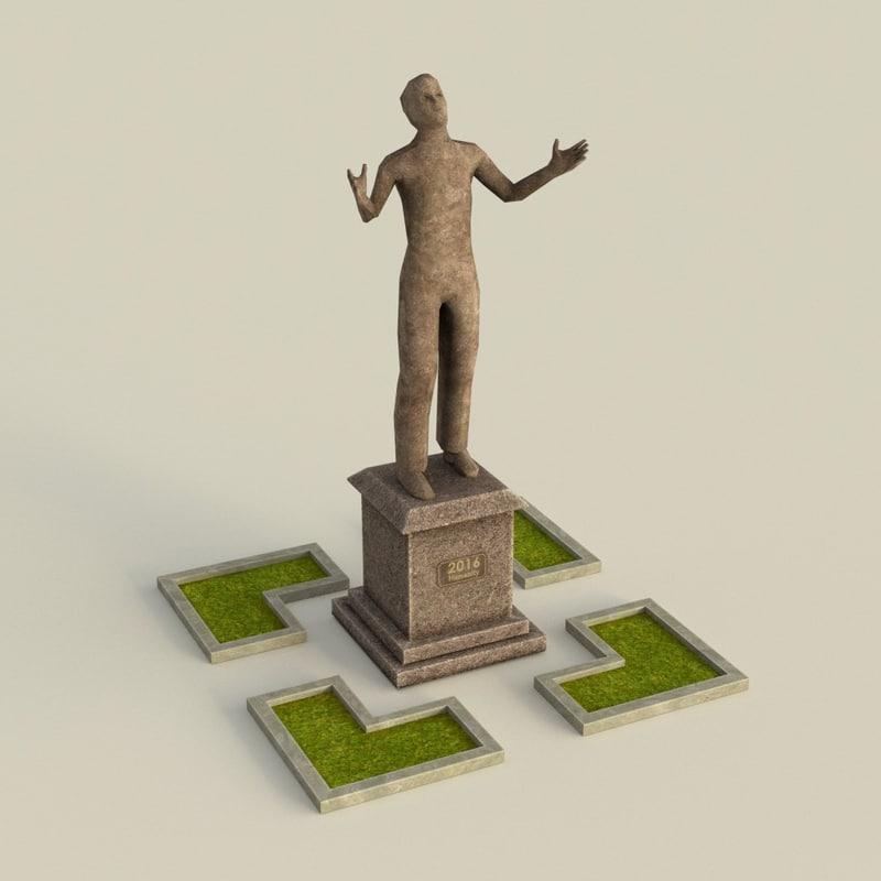 3d model ready statue