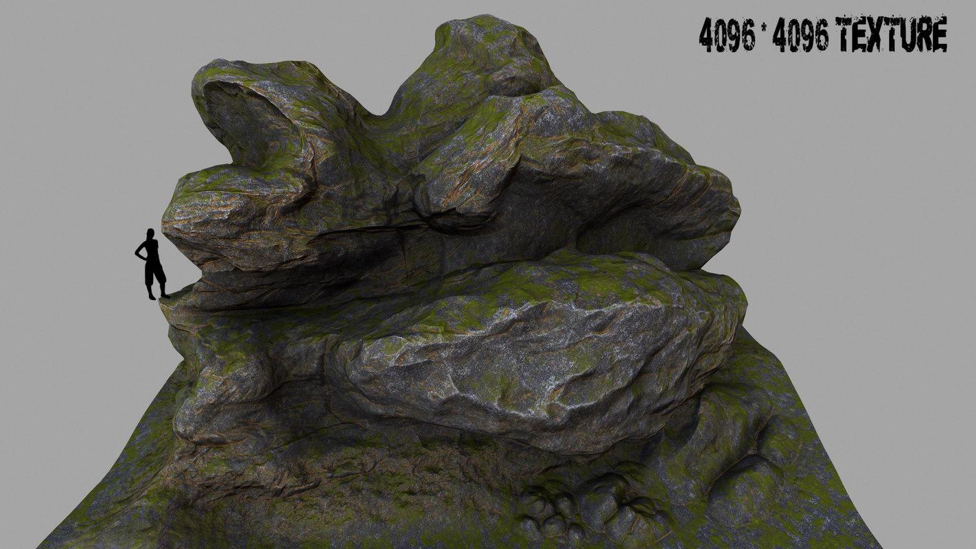 3d mount rock model