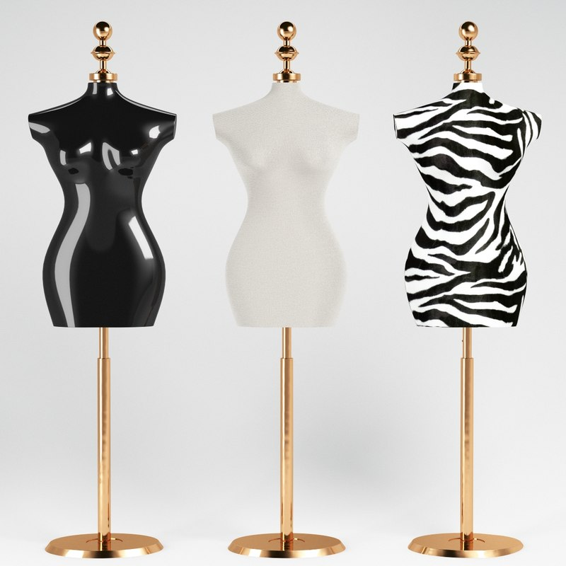 3d buste mannequin model