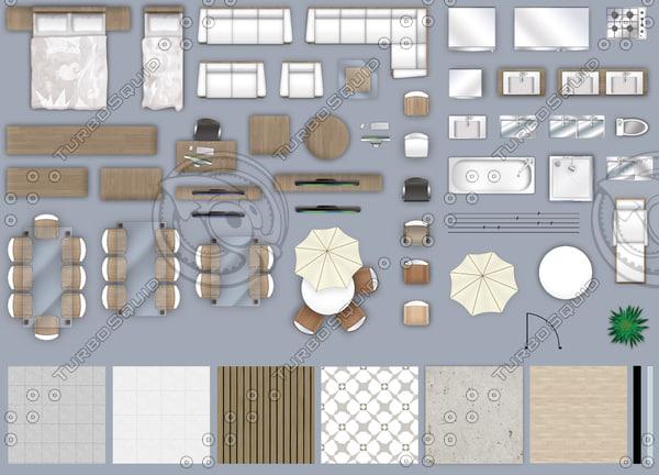 Texture Other 2d Floor Plan