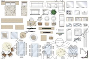 2d furniture top-down view style-4
