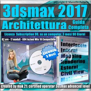Corso 3ds max 2017 Architettura Guida Completa 3 mesi Subscription 1 Computer
