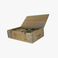 max military wooden ammunition box