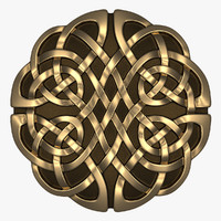 celtic ornament circle 3d model