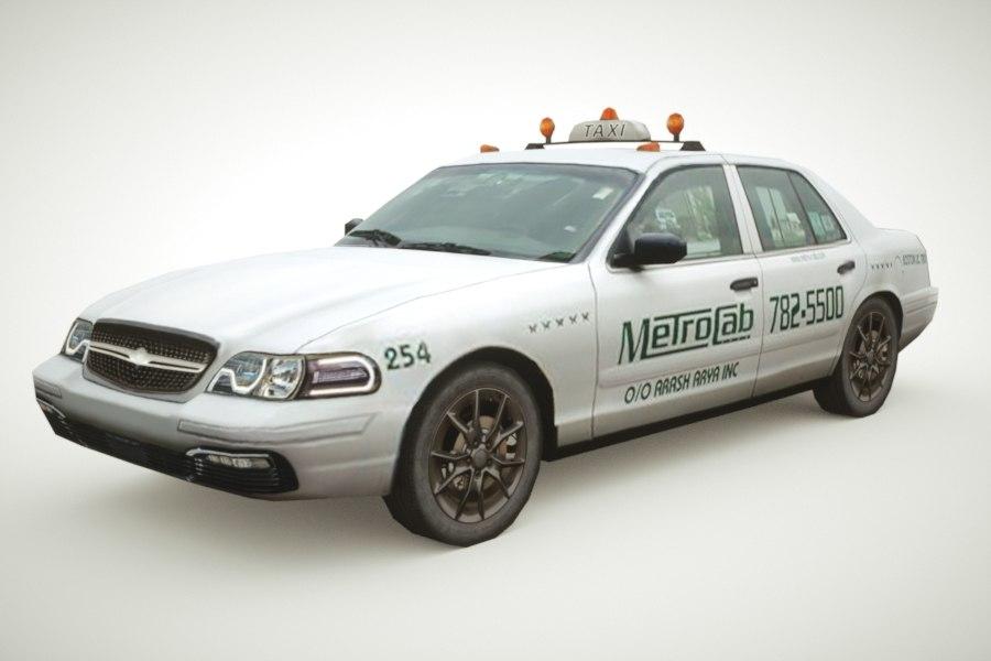 generic taxi sedan v1 3d max