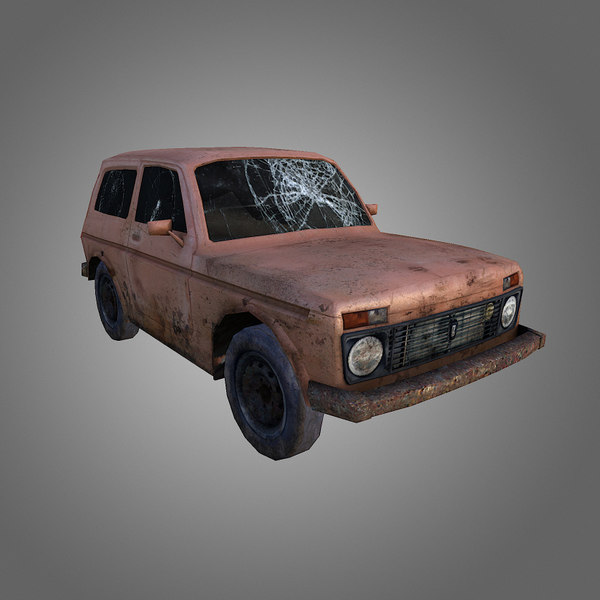 low-poly niva 3d 3ds