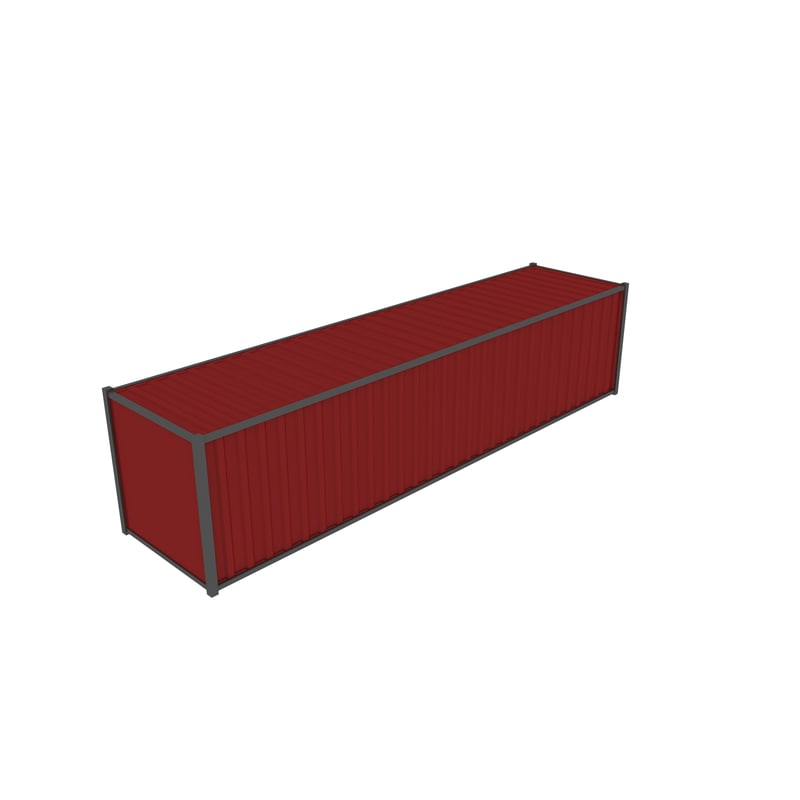3d model of container