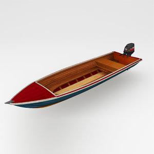 boat motor motorboat 3d obj