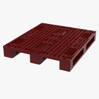 max plastic pallet red