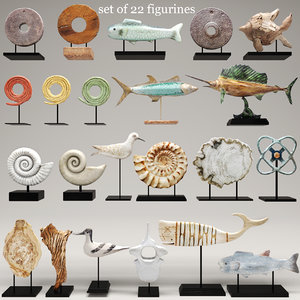 figurines sculpture fish 3d model