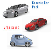 3d model generic car pack