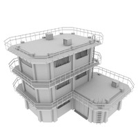 3d model blender large colony building