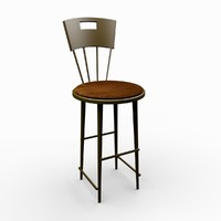 classic bar stool 3d 3ds