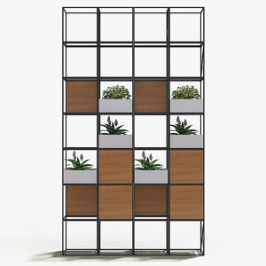 decorate wall plant 1 wood 3d max