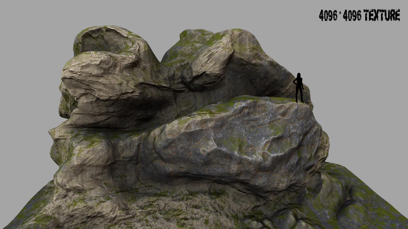 mount rock 3d model