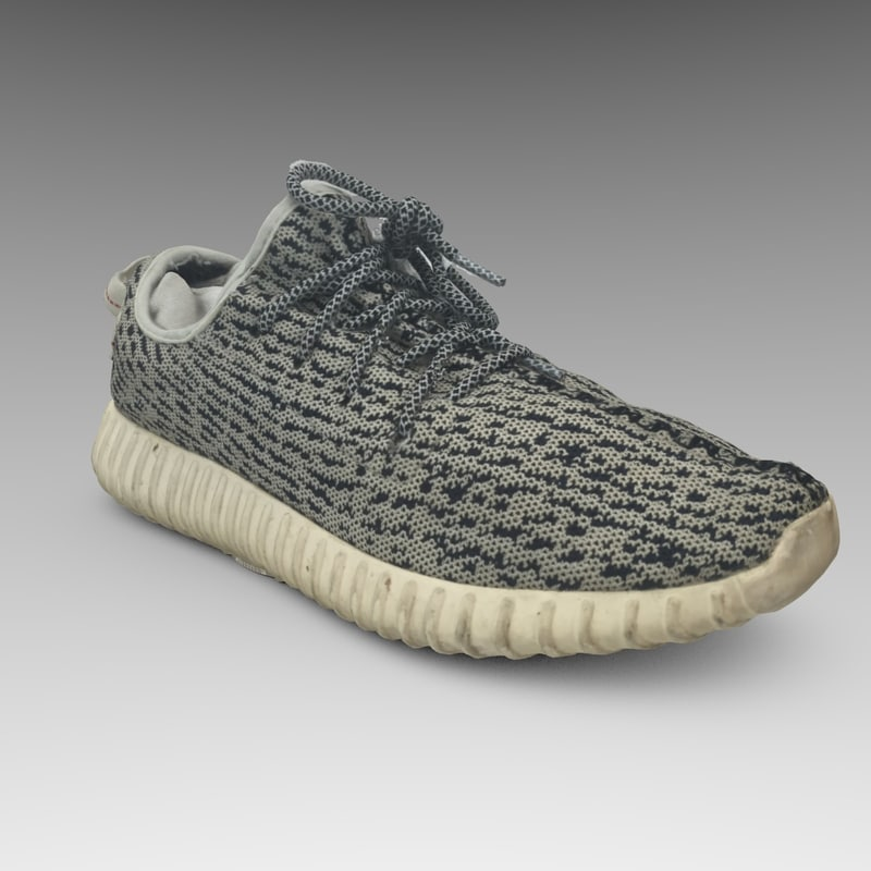 3d yeezy shoes model