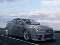 3d model mitsubishi-lancer-evolution-x