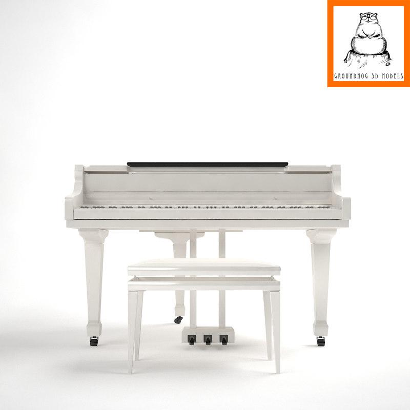 3d model | piano