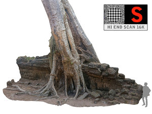 jungle tree ultra hd 3d model