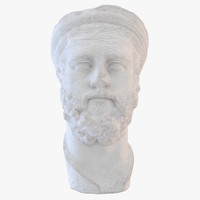 realistic ancient greek bust 3d model