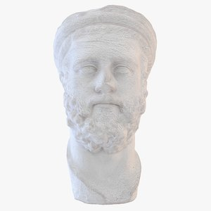 realistic ancient greek bust 3d model