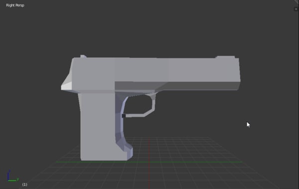simple low-poly 3d model