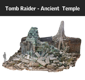 3d ancient temple 16 k