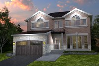 3d brown house