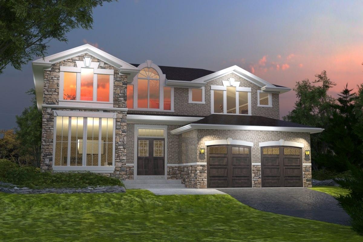 tan house 3d max