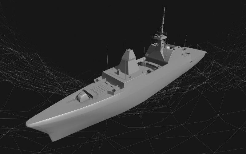 navy ship formidable obj