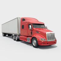 semi truck 3d 3ds