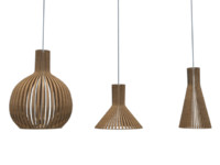 3d model pendant wooden luminaires