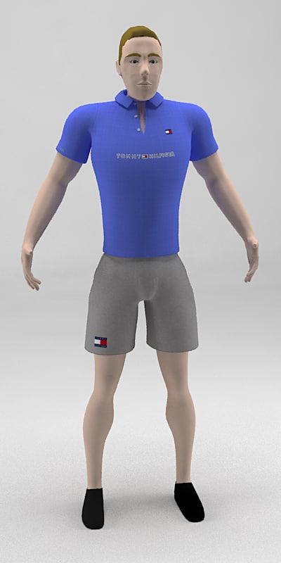 sports men character cartoon max