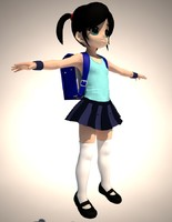 3d max anime girl